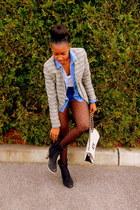 tweed jacket jacket - shirt - polkadot tights tights - shorts