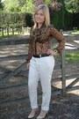 Bardot-shirt-aldo-heels-zara-pants-vintage-belt
