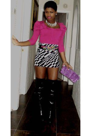 belt - Bebe cardigan - boots