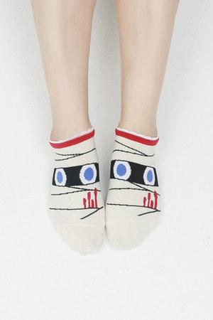 beige TPRBT socks