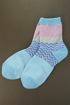 sky blue multi pattern TPRBT socks