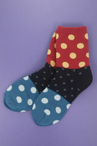 red polka dot socks TPRBT socks