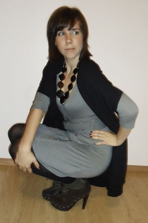 Aldo shoes - wilfred belt - Only dress - community vest - le chateau necklace