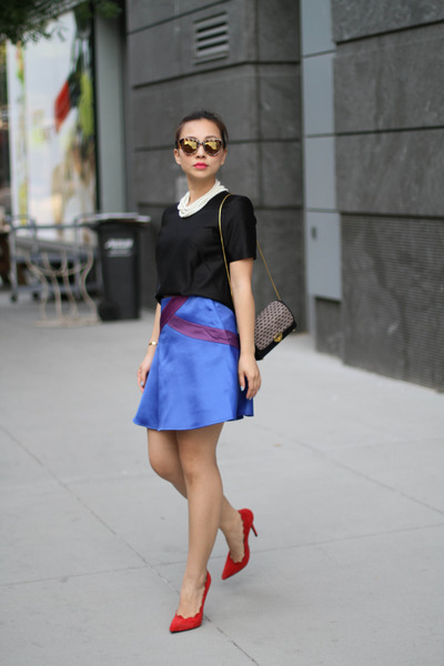 UO bag - fewmoda skirt - H&M top