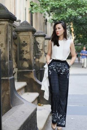 Raul blouse - clutch Chloe bag - patent leather sam edelman heels - H&M pants
