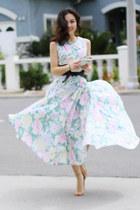 thrifted vintage dress - Prada bag