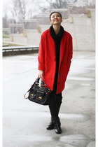 red Space coat - black Joe Fresh sweater - black Joe Fresh pants