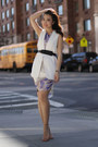 Alice-yim-dress-bcbg-belt-zara-vest-asos-heels