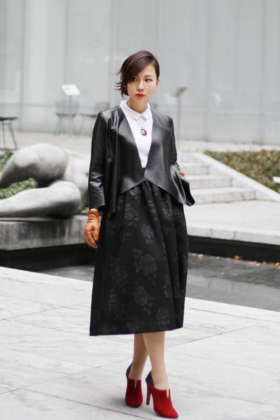 Rebecca Minkoff boots - Zara blazer - hm shirt - Prada bag