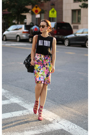 fewmoda skirt - 31 Phillip Lim bag - American Eagle top - Jimmy Choo heels