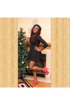 red shoes - black gloria-v skater American Apparel dress