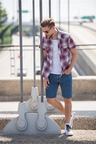 JCPenney shirt - denim shorts Levis shorts