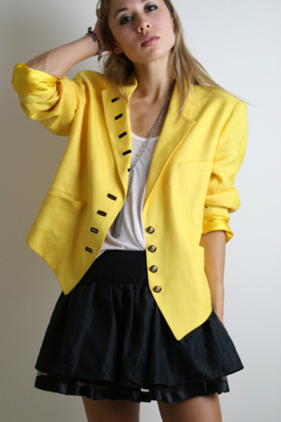 yellow military Treasure Chest vintage jacket - black buckle Forever 21 shoes