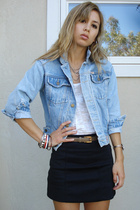 Treasure Chest vintage jacket - alternative apparel top - forever 21 skirt - Tre