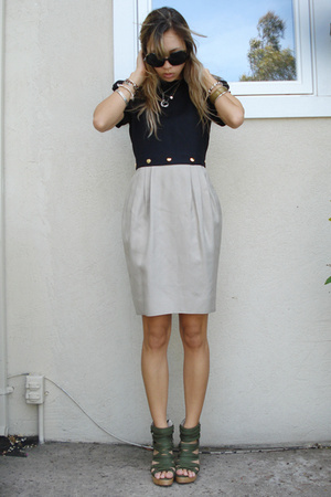 vintage dress - Jeffrey Campbell shoes