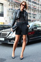 black All Saints shoes - black All Saints blazer - black The Kooples bag