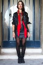 H&M blazer - American Apparel bodysuit