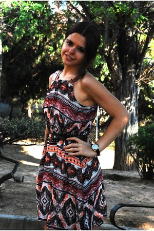 red Primark dress