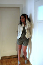 yellow Mango jacket - green Zara Trf shorts - silver DSD shoes