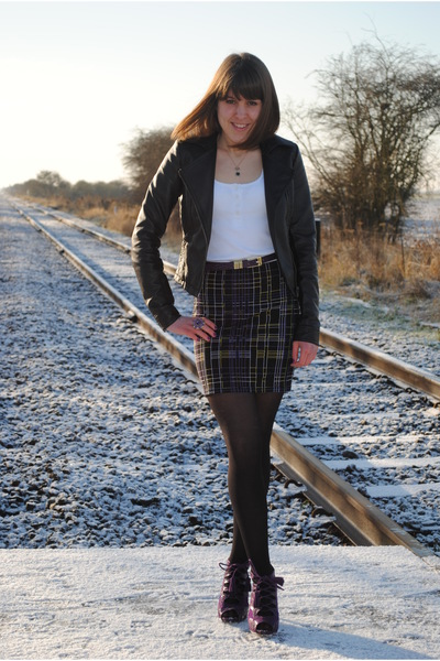 asos skirt - Matalan shoes - Dorothy Perkins jacket - Accessorize necklace