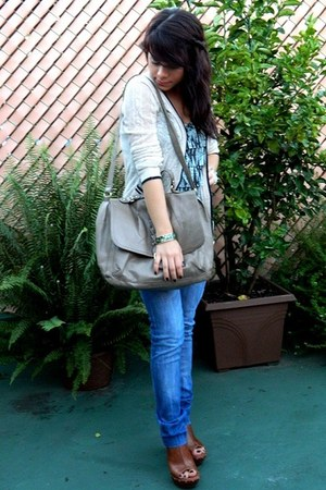 H&M bag - Shoe Dazze shoes - Zara jeans - Forever 21 cardigan - Forever 21 top