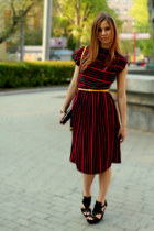 vintage dress - Zara bag - ASH wedges - Zara belt