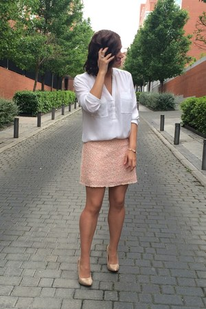 H&M blouse - Tous bracelet - Springfield skirt - Miss Pupitas earrings
