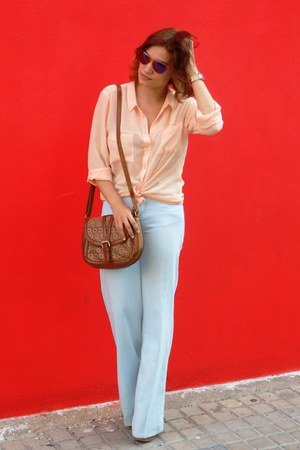 denim Sfera jeans - silk Bershka shirt