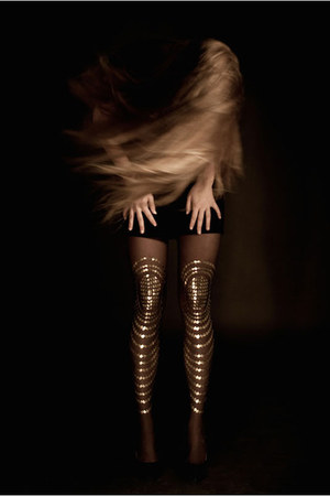sheer patterned Gal Stern tights