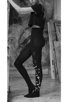 Inc Splash Print Tights Black