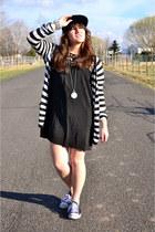 white stripes sears cardigan - black spikes romwe hat