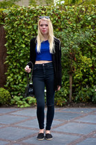 black espadrilles Nelly shoes - black ripped skinny asos jeans
