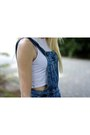 Blue-denim-dungarees-asos-skirt-white-cropped-h-m-top