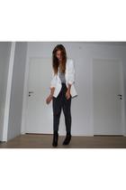 Zara blazer - H&M pants - Topshop t-shirt