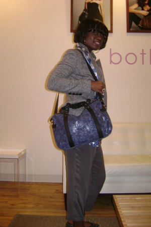 botkier purse - Express pants - Express blazer - anne taylor loft shoes - thrift