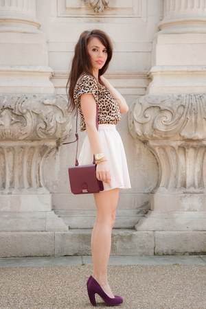 asos bag - Topshop shoes - Lipsy London skirt - Zara top