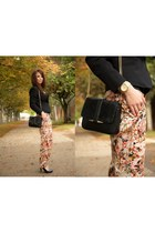 Topshop blazer - prima moda shoes - Zara bag - Zara pants