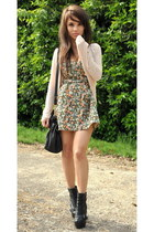 Topshop shoes - Primark dress - Miu Miu bag - Miss Selfedrige cardigan