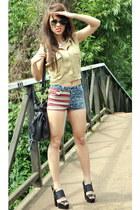 Topshop shirt - Topshop shorts - asos heels