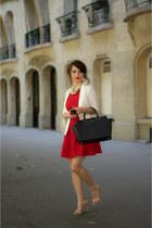 Topshop dress - River Island blazer - Michael Kors bag - Zara sandals