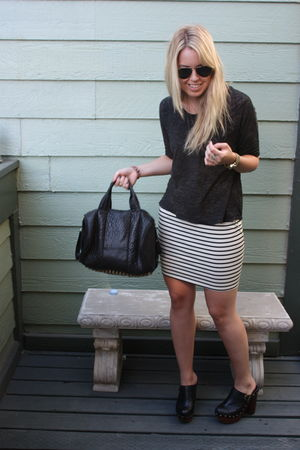 black BDG t-shirt - BDG skirt - Jeffery Campbell shoes - Alexander Wang purse -
