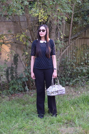 black Vero Moda top - black straight leg Principles Petite by Ben De Lisi pants