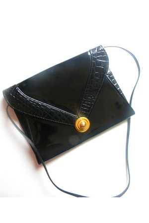 patent leather thrifted vintage bag