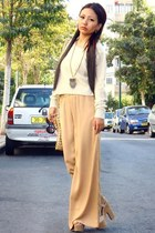 street style 5th Avenue pants - street style roko shoes - casual H&M sweater