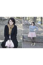 light pink OASAP skirt - beige combat boots unlabel boots
