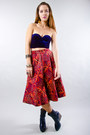 Quilted-circle-vintage-skirt
