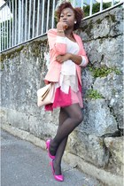 pastels H&M dress - Topshop blazer - Bershka purse - Forever 21 belt