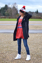 asos coat - nike hat - Mr Gugu t-shirt