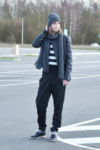 Cheap Monday hat - Zara shoes - Mango jacket - we sweater - Cheap Monday scarf