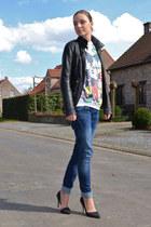 Zara jacket - asos sweater - Nelly heels